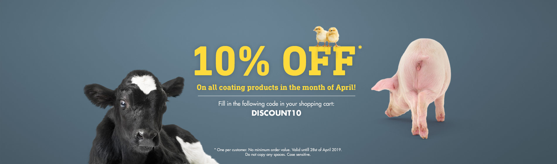 10% discount on all coating products*
